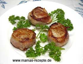 Filetmedaillons mit Speck
