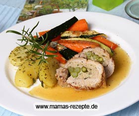 Filetrolle mit Spargel
