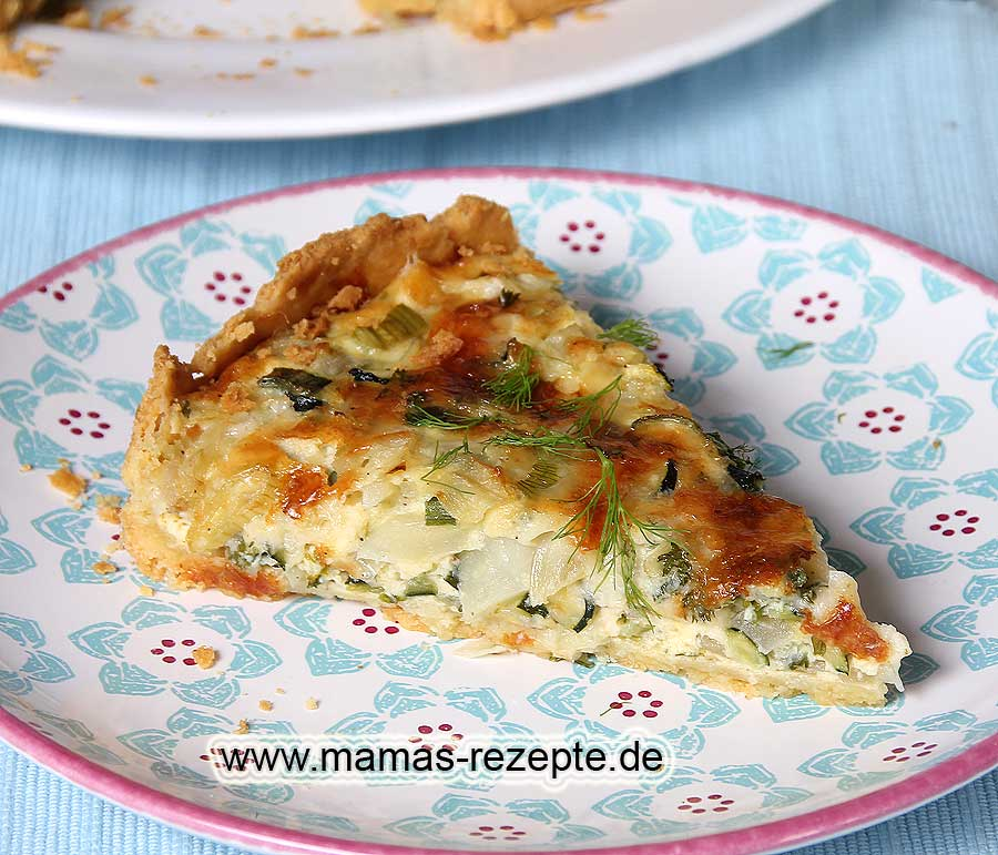 fenchel quiche rezept mamas rezepte mit bild und kalorienangaben. Black Bedroom Furniture Sets. Home Design Ideas