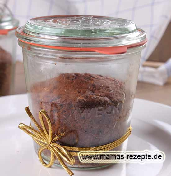 rotweinkuchen im glas gebacken mamas rezepte mit bild. Black Bedroom Furniture Sets. Home Design Ideas