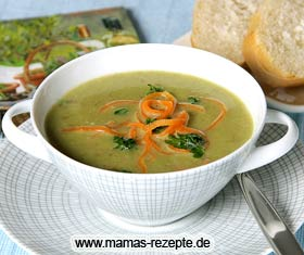 Zuckerschoten Suppe